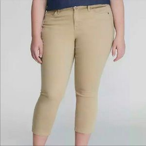 New! Lane Bryant skinny Capri pants khaki work